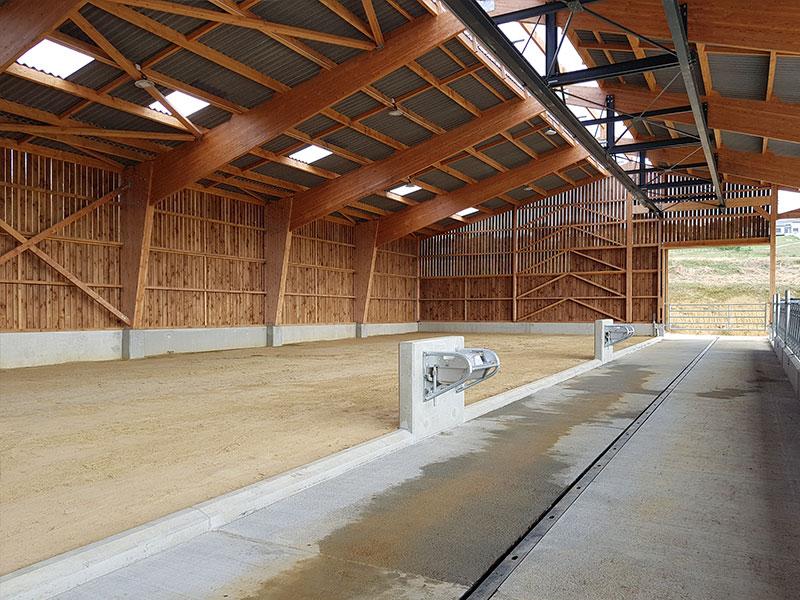 Charpente d'un bâtiment agricole – Lycée Agricole Saint Gaudens