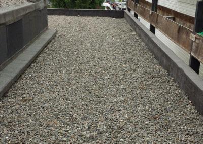 APRÈS Terrasse en étanchéité lestée gravier Agence BNP à Mourenx (64)