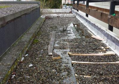 AVANT Terrasse en étanchéité lestée gravier Agence BNP à Mourenx (64) 2015