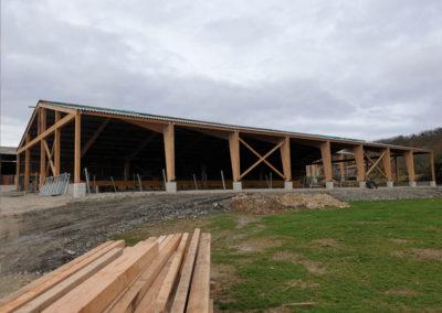 Charpente bois massif, laméllé collé, douglas bâtiment agricole privé CERIZOLS 2018 (4)