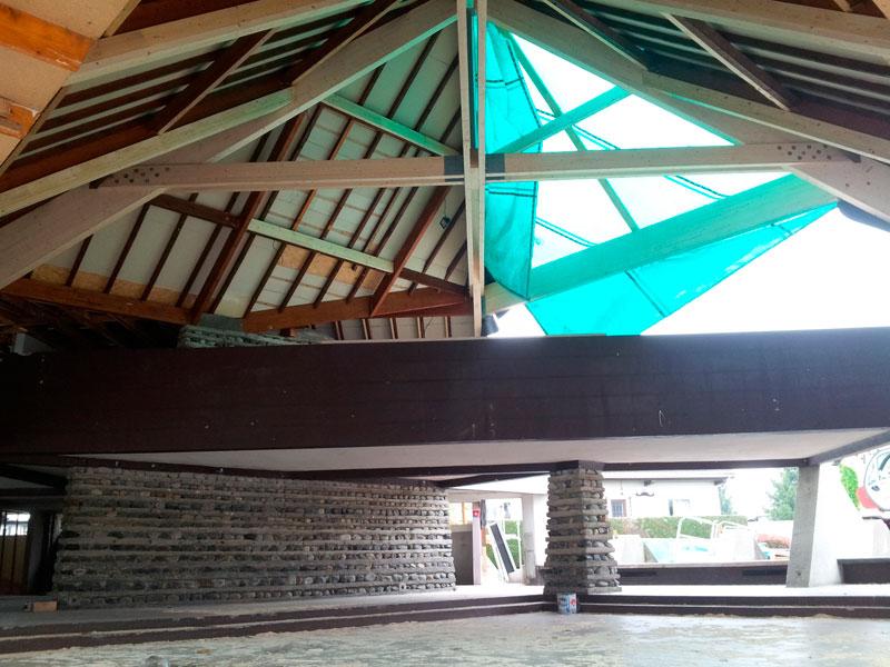 Rénovation d'un charpente – Foyer rural de Ger