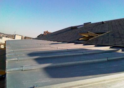 Couverture à tasseaux zinc naturel Agence BNP TARBES (65) 2012