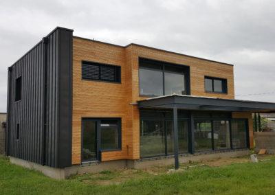 Ossature Bois – construction d'une maison bois isolé par l'extérieur