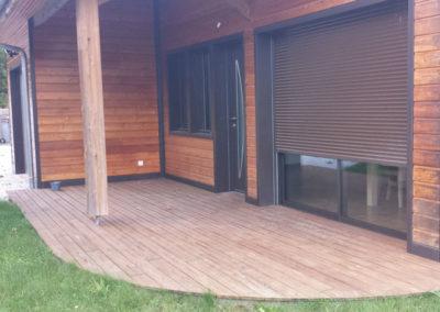 Extension d'une maison en ossature bois bardage bois mélèze à Séméac dans les Hautes-Pyrénées