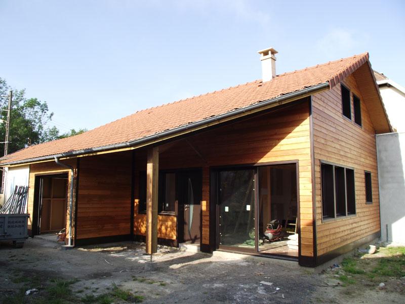 Ossature Bois – construction d'une maison à Séméac (65)