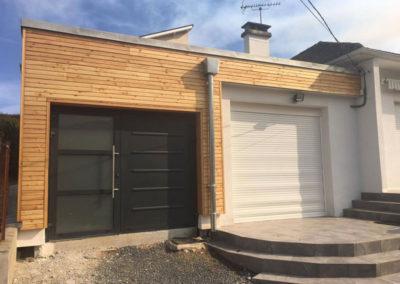 Extension d'une maison d'habitation en ossature bois à Bagnères de Bigorre 2017