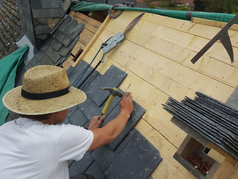 Couverture de toiture – Ardoises naturelles